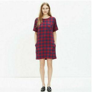 Madewell Edina Plaid Dress